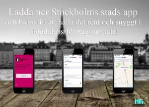 Stockholm stads app för högdalen hemsida