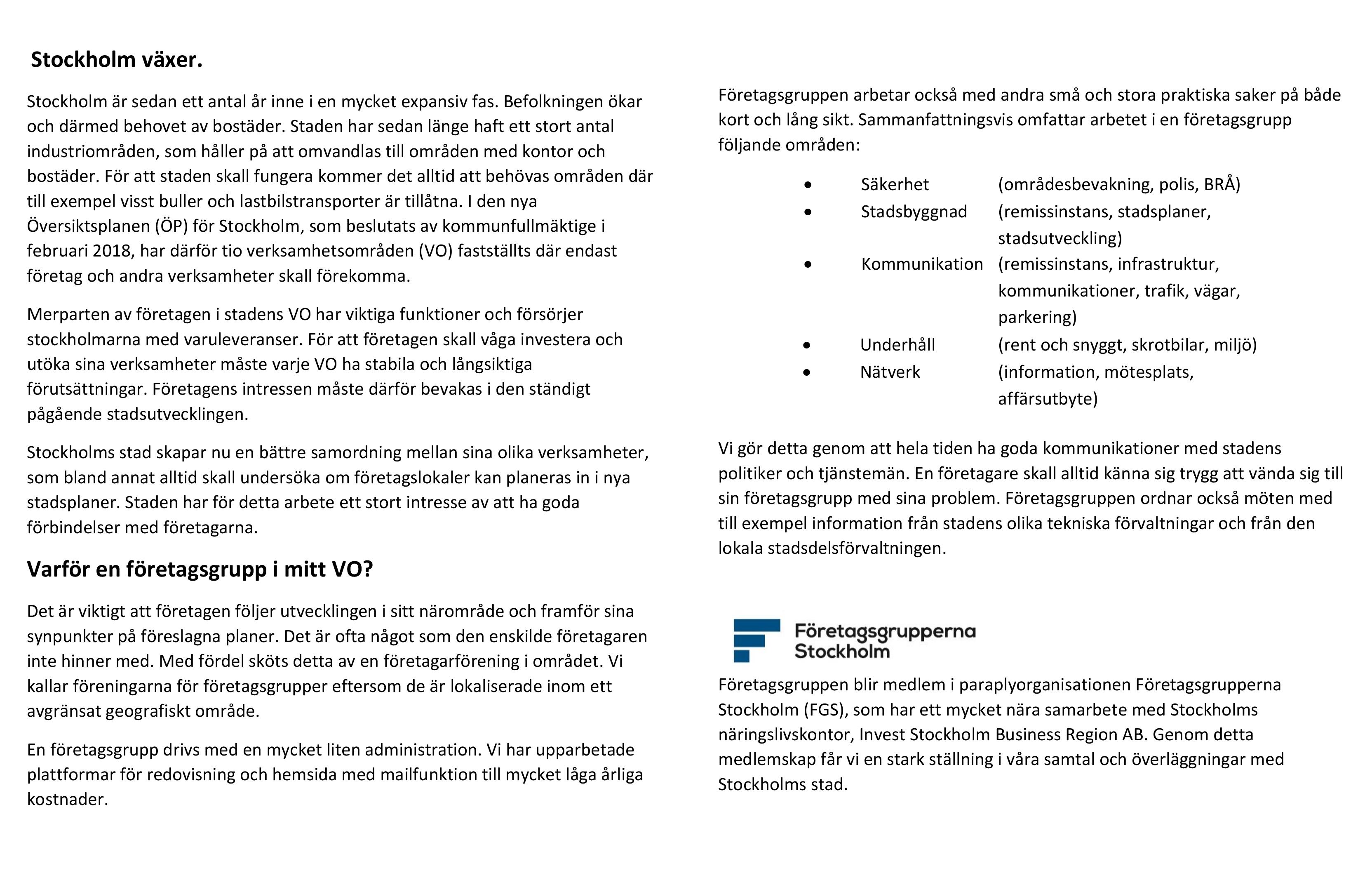 20180315 Broschyr sid 2 Varför en företagsgrupp i mitt område 40474e291702c